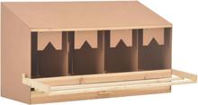 vidaXL rugekasse 4 rum 106 x 40 x 59 cm massivt fyrretræ
