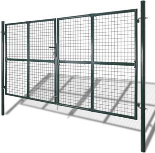vidaXL Havehegn med låge og paneler i trådnet, 289x200 cm/306x250 cm