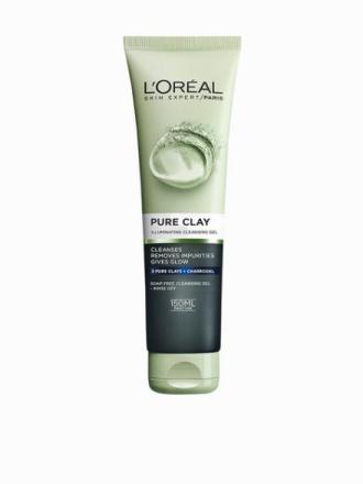 L'Oréal Paris Pure Clay Illuminating Cleansing Gel 150 ml Charcoal