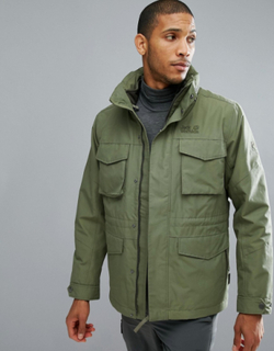 Jack Wolfskin Port Hardy 3 in 1 Jacket in Khaki - Green