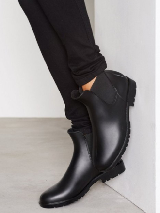 Gummistøvler - Svart NLY Shoes Low Chelsea Rain Boot