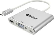 USB-C Mini Dock VGA+USB