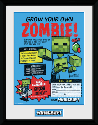 Collector print - Games - Minecraft Grow Your Own Zombie - Merchandise - CDON.COM