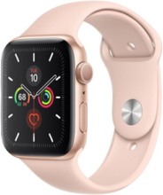 Watch Series 5 (GPS + Cellular) 44mm Gold Aluminium Case with Pink Sand Sport Band