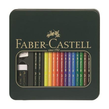 Faber-Castell - Tin - Polychromos artists pencils Castell 9000 artists pencil (110040)
