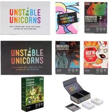 Unstable Unicorns Card Games Fun Best Board Games Basic/Expansion Pack Dragons NSFW Uncut Rainbow Unicorns Legend