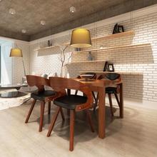 vidaXL Matstolar 4 st brun böjträ och konstläder