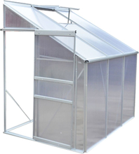 vidaXL drivhus aluminium halvt 3 sektioner