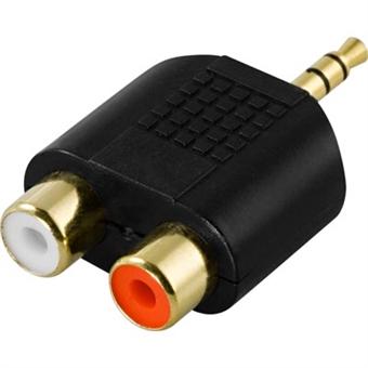 Multimedia-adapteri, 2xRCA naaras 3,5mm urokselle