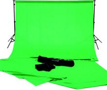 Complete green screen studio kit inclusief draagtas