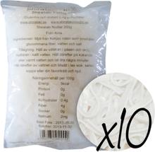 10 x Shirataki Fettucini, 200 gram, 200 g