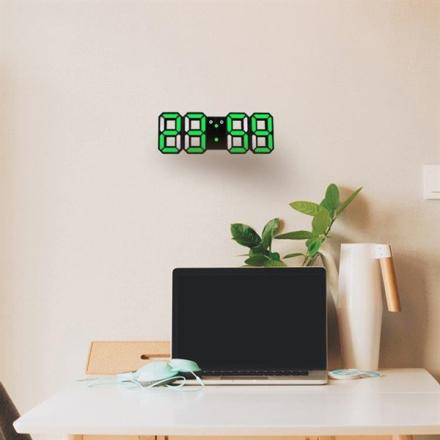 Suuri 3D LED Digitaalinen Seinäkello - Monitoiminen