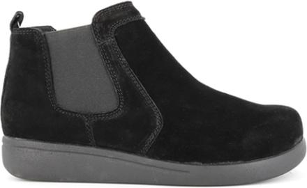 Green Comfort Elastic Boot Black