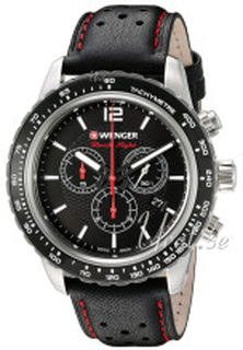 Wenger 01.0853.105 Roadster Sort/Læder Ø45 mm