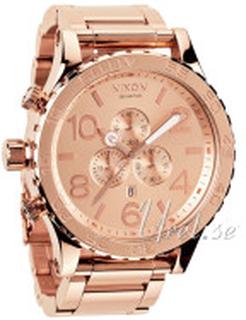 Nixon A083897-00 The 51-30 Chrono Rosa guldfarvet/Rosaguldtonet stål Ø51 mm
