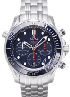 Omega 212.30.44.50.03.001 Seamaster Diver 300m Co-Axial Chronograph 44mm Blå/SSt