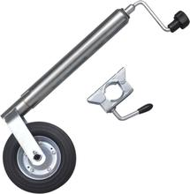 vidaXL Stödhjul för släpvagn med 1 klämma 48 mm