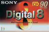 Videokassett Digital 8 Sony N8-60P 60 min 1 st