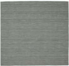 Kelim loom - Mörkgrå matta 225x225 Modern, Kvadratisk Matta