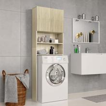 vidaXL vaskemaskineskab 64x25,5x190 cm spånplade sonoma-egetræsfarve