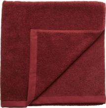 Bath Towel Cotton Linen Home Bathroom Towels Rød Gripsholm