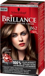 Kjøp Schwarzkopf Brillance Intensive Color-Creme, 862 Natural Brown, 862 Natural Brown Schwarzkopf Hårfarge Fri frakt