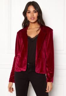 Rut & Circle Adina Velvet Jacket Rococco Red M