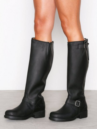 Knee-high - Svart Johnny Bulls High Boot