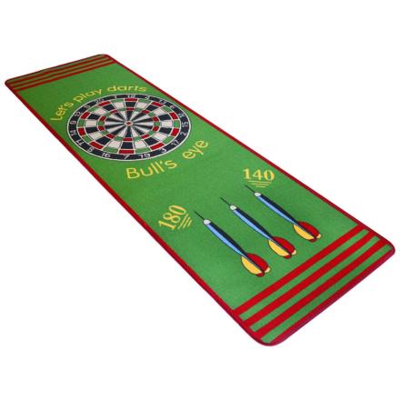 vidaXL Dartteppe 79x237 cm grønn og rød