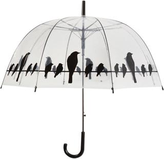 Esschert Design Paraply fugler på ledning transparent TP166