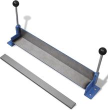 vidaXL Manuellt styrd falsmaskin för metallplåt 450 mm