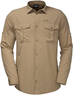 Jack Wolfskin Atacama Roll-up Shirt Herre langermede skjorter Beige S