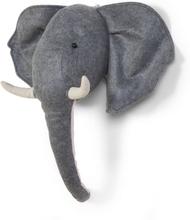 CHILDWOOD Väggdekoration elefanthuvud filt grå CCFELH