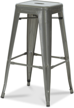 2 st Industry Barstol i plåt - Borstad metall