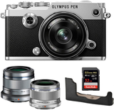 Olympus PEN-F + 17 + 25 + 45 + Half Case + 32GB SD