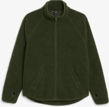 Zip teddy sweater - Green
