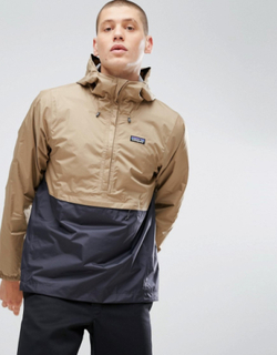 Patagonia Torrentshell Overhead Waterproof Jacket 2 Tone in Beige/Navy - Beige