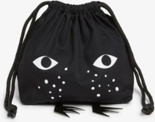 Drawstring Monki pouch - Black