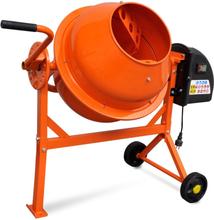 vidaXL Elektrisk betongblandare 63 L 220 W stål orange