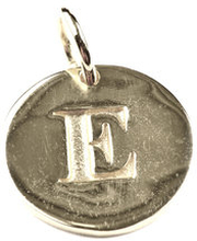 Beloved Letter Silver E, ONESIZE