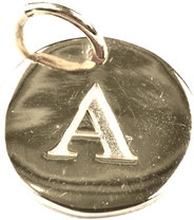 Beloved Letter Silver A, ONESIZE