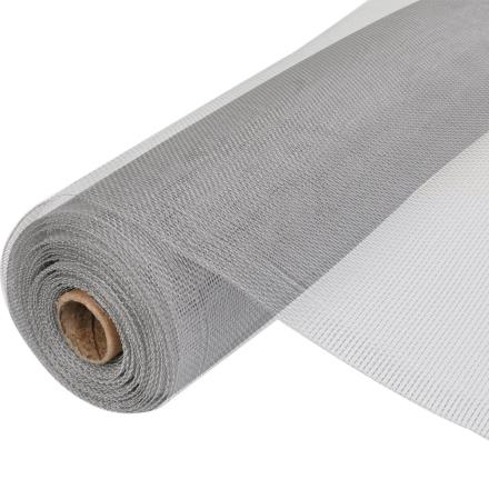 vidaXL Aluminiumsnet til dør/vindue Rulle 100 x 500 cm - Sølvfarvet
