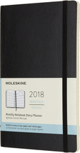 Moleskine Månadskalender 2019 Stor Mjuk Svart