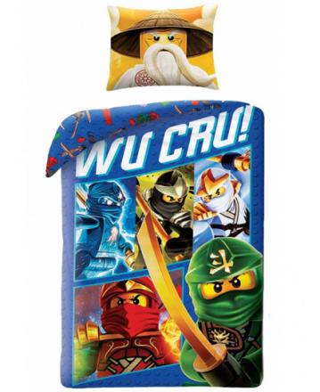 Lego Ninjago Wu Cru 2i1 Sengetøj (100 procent bomuld!) - Only4kids