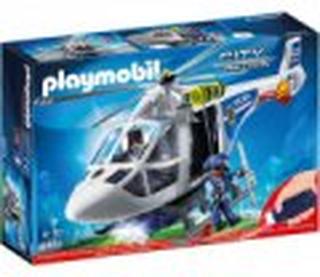 Playmobil Helikopter Politi Sæt - City Cation