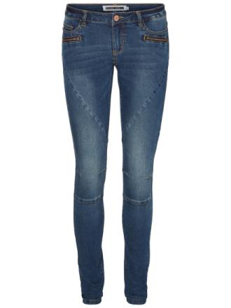 VERO MODA Eve Low Waist Biker Slim Fit Jeans Women Blue