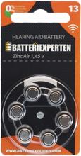Høreapparatbatteri 13/A13/AC13/PR48 6stk/pk.