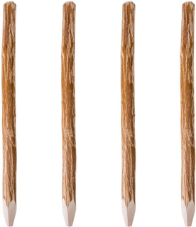 vidaXL hegnspæle tilspidset hasseltræ 4 stk. 150 cm