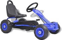 vidaXL pedal-gokart med pneumatiske dæk blå
