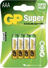 AAA GP Super LR3 Alkaliskt 4-pakning